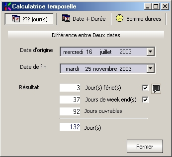 calculatrice temporelle